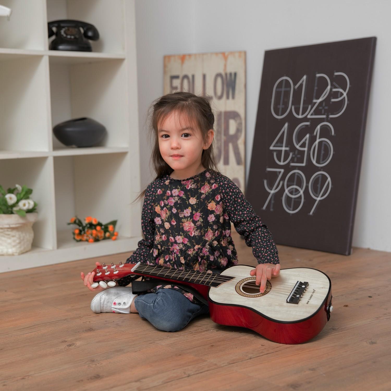 Класическа дървена китара-детски музикални инструменти(2)-Bellamie