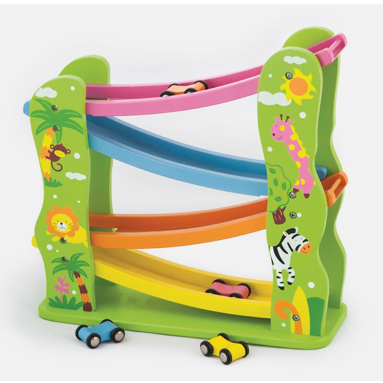 Писта за спускане Джунгла - дървена играчка от Viga toys-bellamiestore