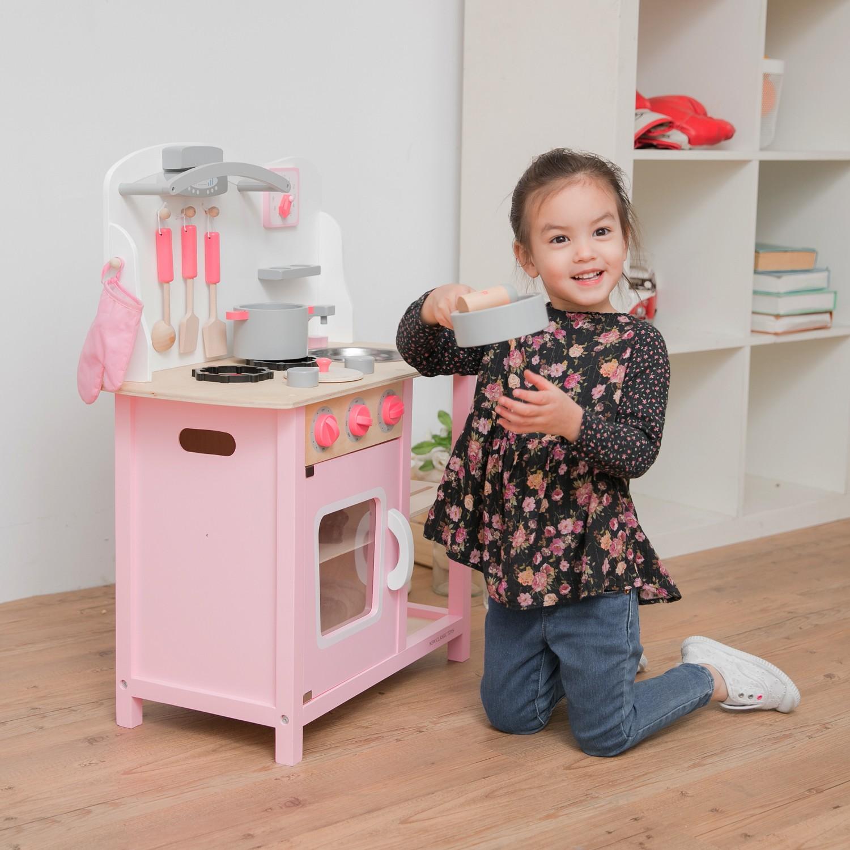 """Детска дървена кухня """"Бон Апети"""" в розово(5)-bellamie"""