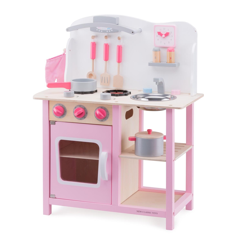 """Детска дървена кухня """"Бон Апети"""" в розово(1)-bellamie"""