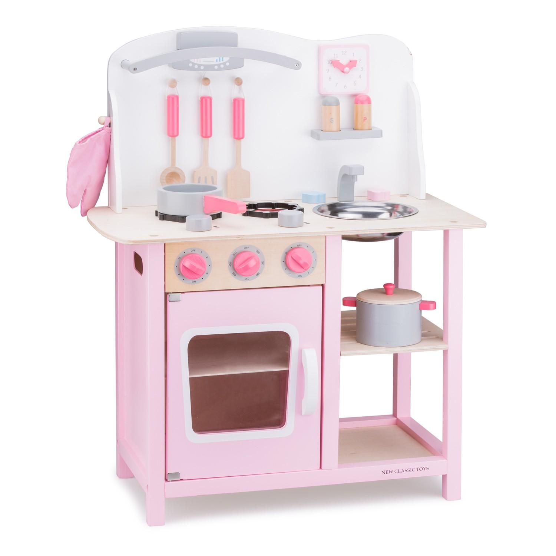 """Детска дървена кухня """"Бон Апети"""" в розово - bellamie"""