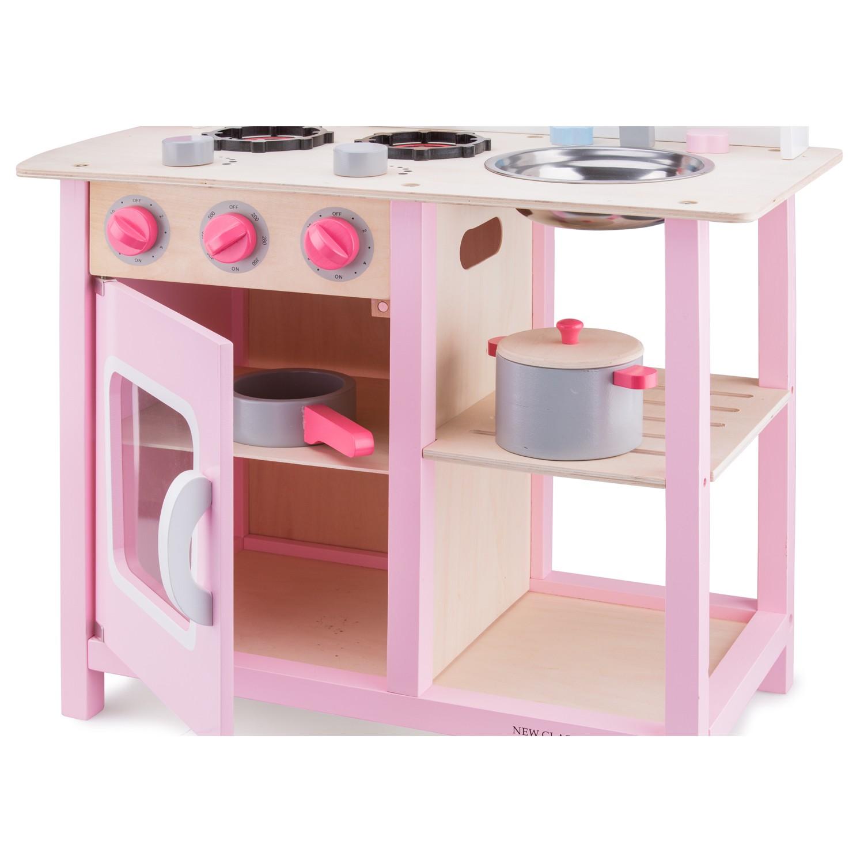 """Детска дървена кухня """"Бон Апети"""" в розово(2)-bellamie"""