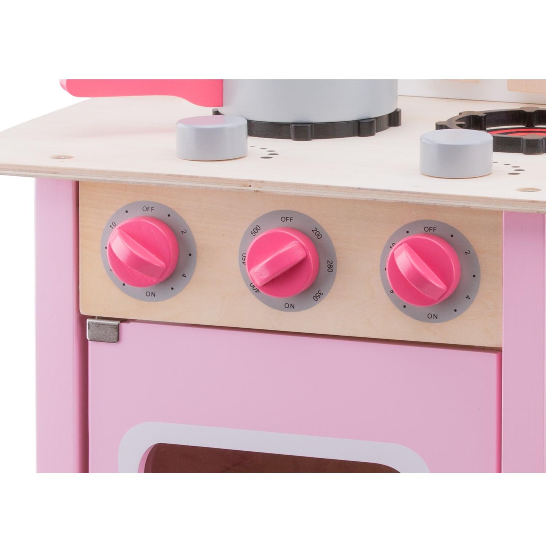 """Детска дървена кухня """"Бон Апети"""" в розово(4)-bellamie"""