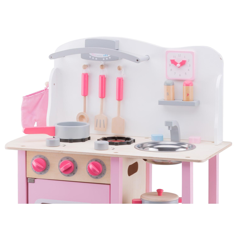 """Детска дървена кухня """"Бон Апети"""" в розово(3)-bellamie"""