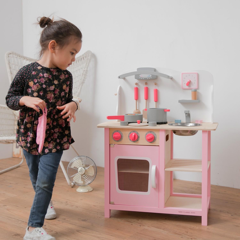 """Детска дървена кухня """"Бон Апети"""" в розово(6)-bellamie"""