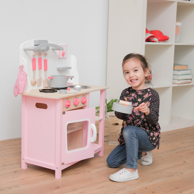 """Детска дървена кухня """"Бон Апети"""" в розово(7)-bellamie"""