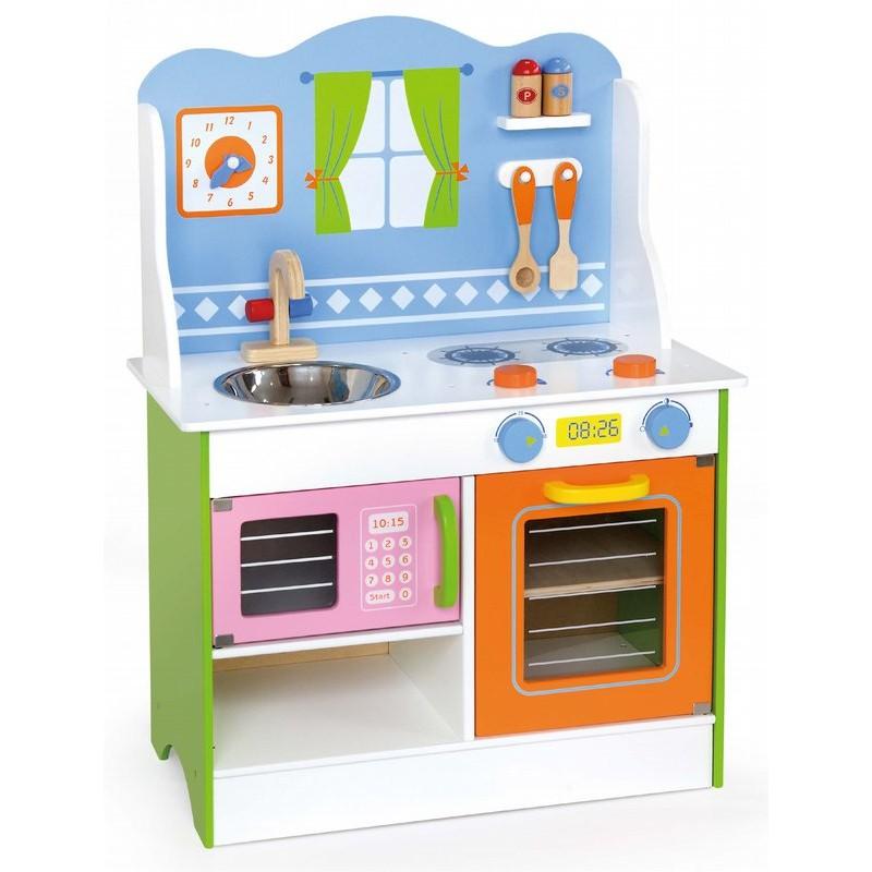 Детска дървена кухня - Готови за вечеря-дървена играчка-bellamie