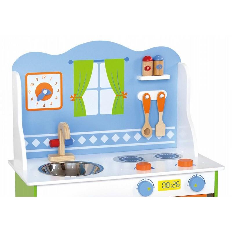 Детска дървена кухня - Готови за вечеря-дървена играчка(1)-bellamie