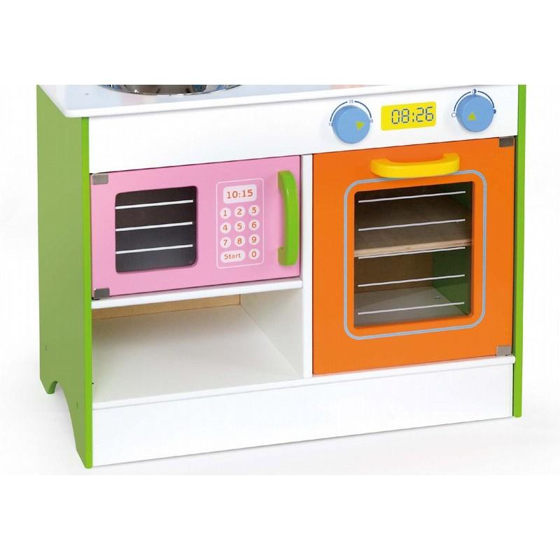 Детска дървена кухня - Готови за вечеря-дървена играчка(2)-bellamie