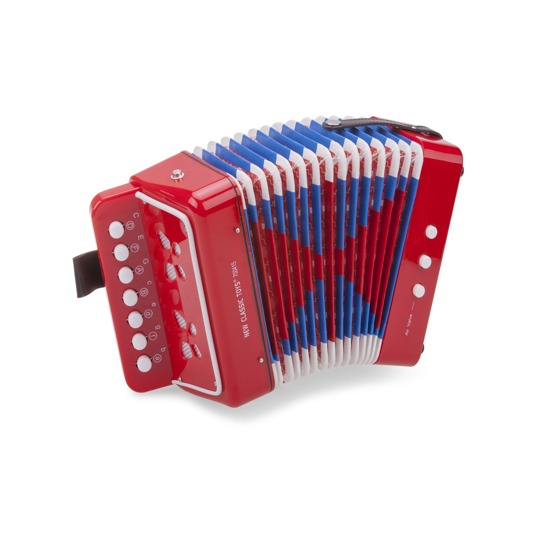 Детски музикални инструменти - червен акордеон-Bellamie