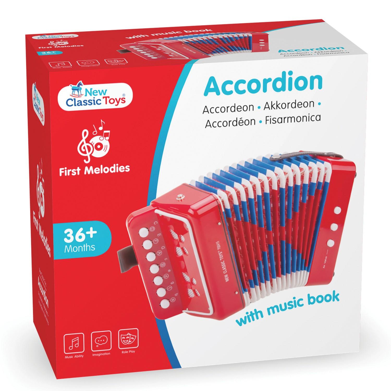 Детски музикални инструменти - червен акордеон -New classic toys(1)-bellamiestore