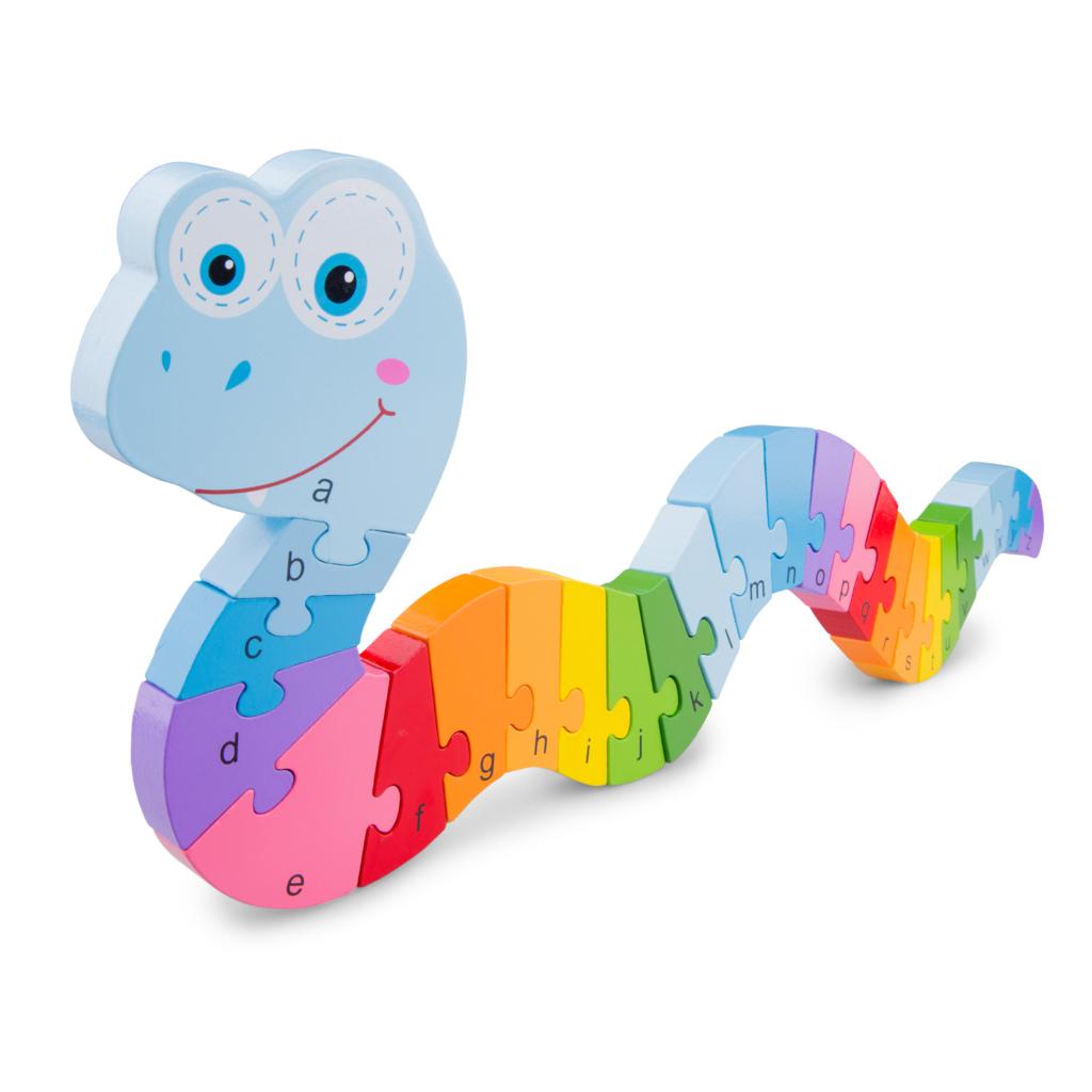Детски дървен пъзел ABC-New Classic Toys-Bellamie