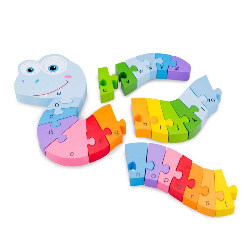 Детски пъзел ABC-змия-New Classic toys-Bellamie