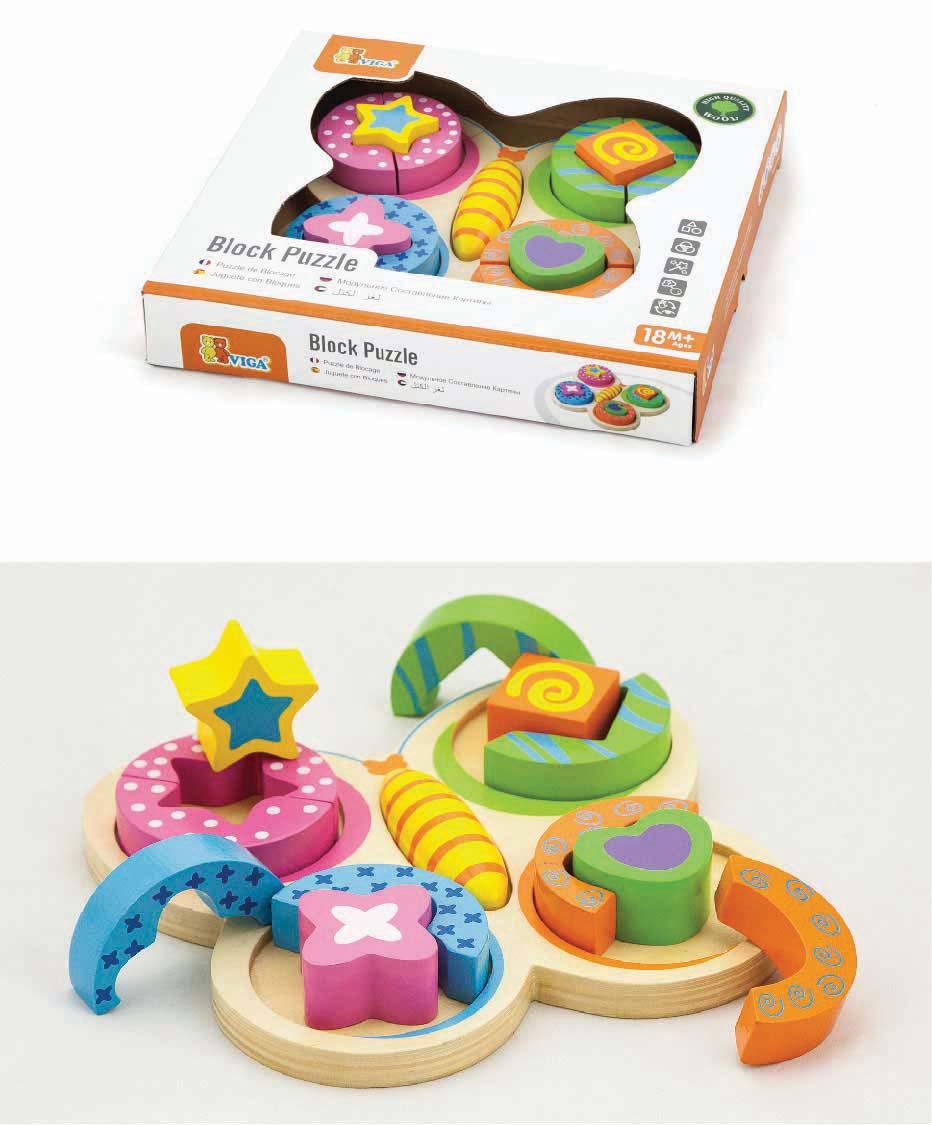 Детски пъзел-пеперуда-Viga toys-Bellamie