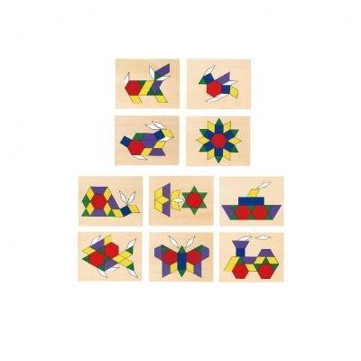дървена цветна мозайка-образователни играчки-bellamie