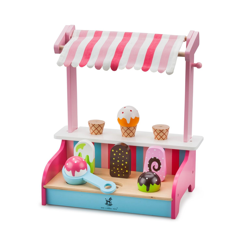дървена играчка-магазин за сладолед-детски играчки за момичета-bellamie