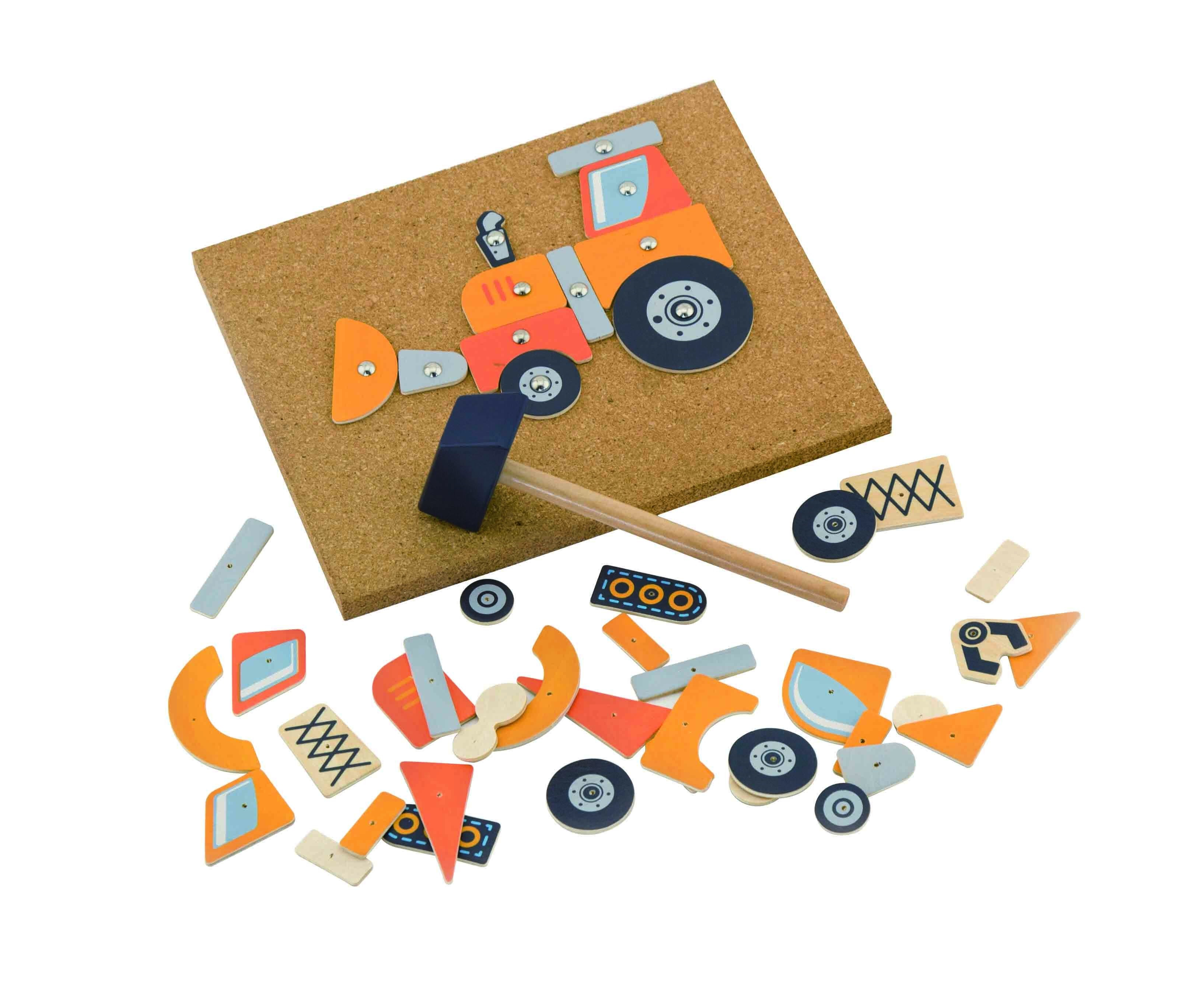 дървена играчка - Направи си кола-детски играчки за момчета(1)-bellamie