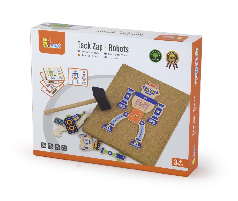 Дървена играчка - Направи си робот-детски играчки за момчета-bellamie