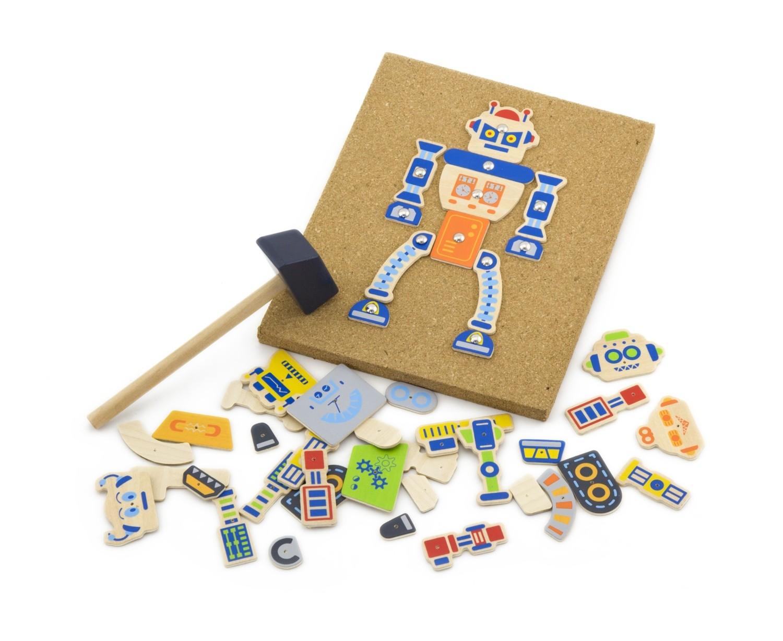 Дървена играчка - Направи си робот-детски играчки за момчета(1)-bellamie