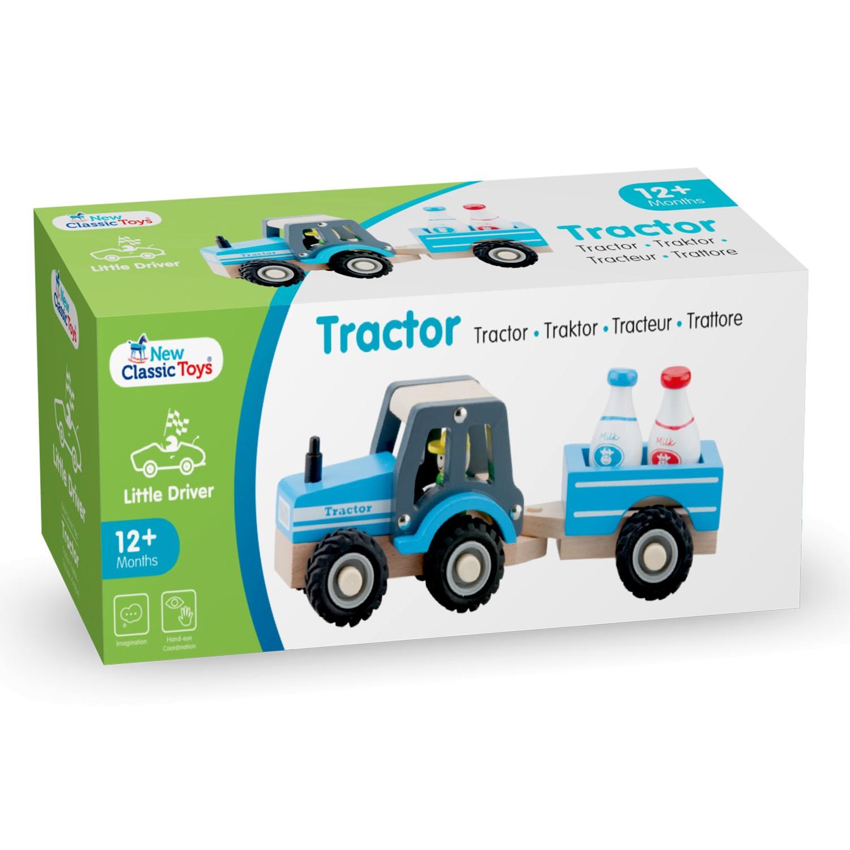 дървена играчка-трактор-с-ремарке-детски играчки за момчета(1)-bellamie