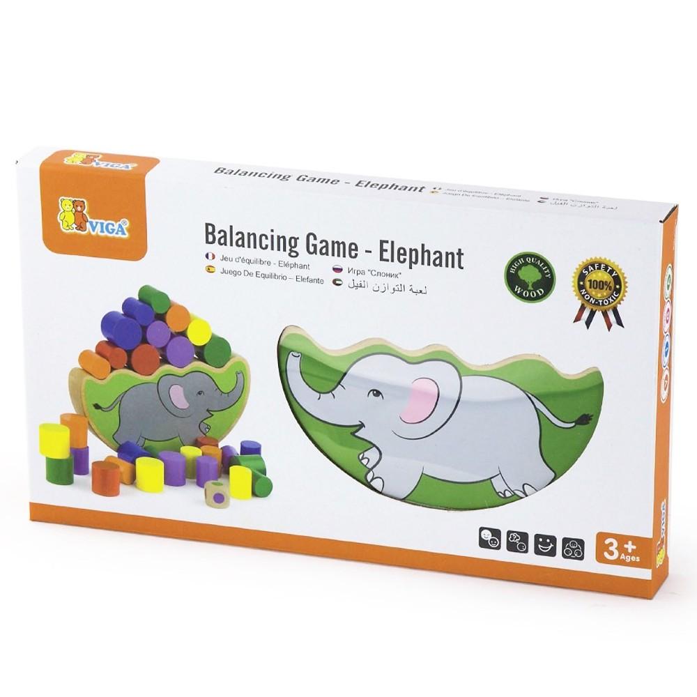 дървена играчка за баланс - слонче-образователни играчки(2)-bellamie