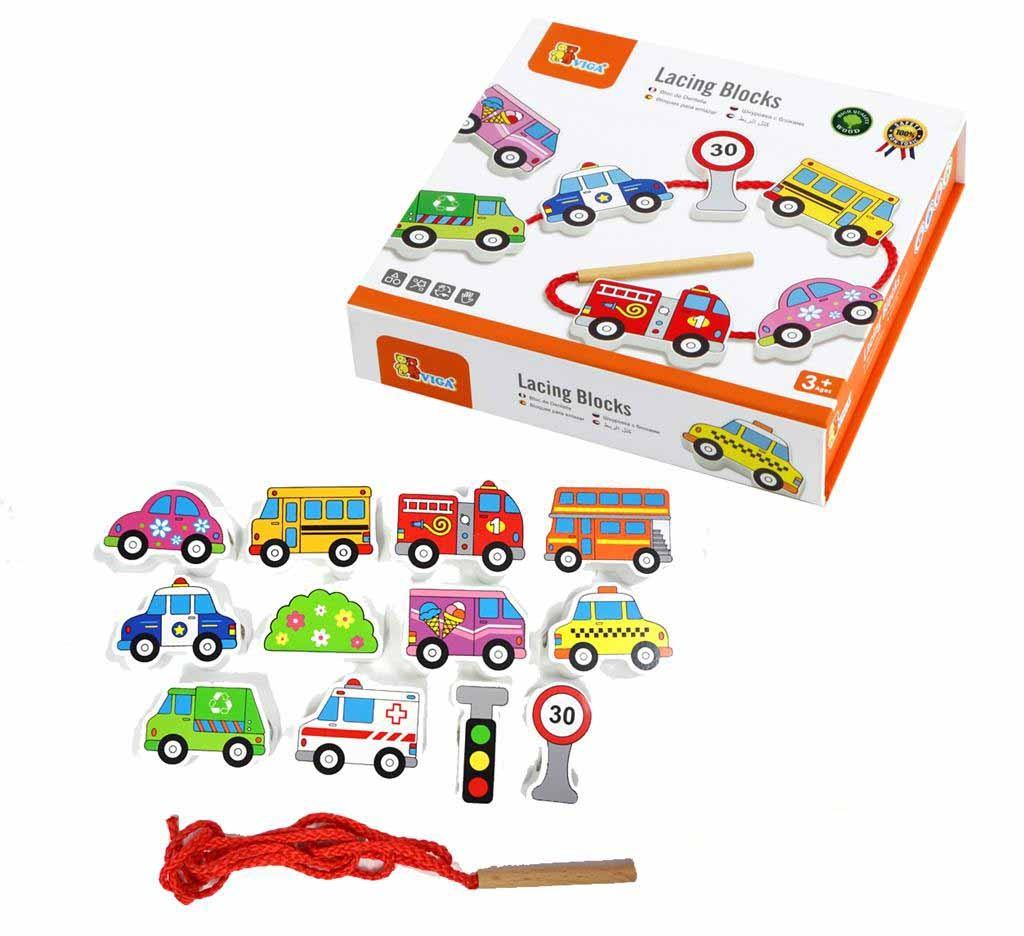 Дървена играчка за нанизване - Превозни средства - образователни играчки(1)-bellamie