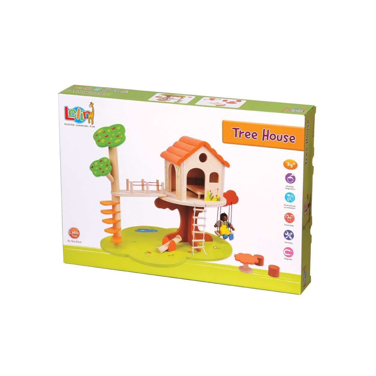 дървена къща за кукли на дърво-детски играчки за момичета(2)-bellamie