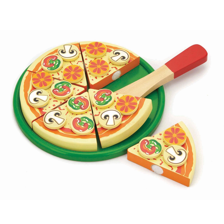 дървена пица за рязане - Италия - аксесоар за детска дървена кухня-bellamie