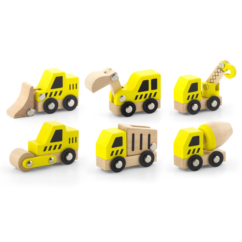 Комплект строителни машини-дървена играчка-детски играчки за момчета-Viga toys-bellamie