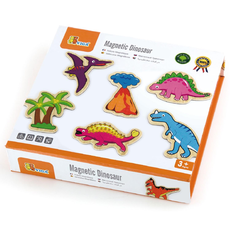 Магнитни динозаври-дървени образователни играчки(1)-bellamie