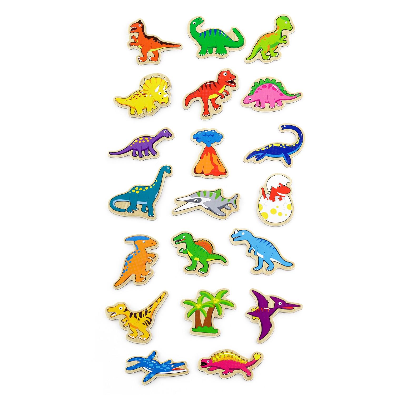 Магнитни динозаври-дървени образователни играчки(2)-bellamie