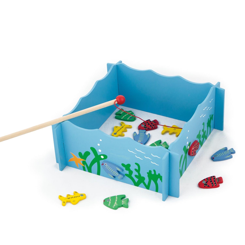 образователна игра - Готови за риболов - дървена играчка-bellamie