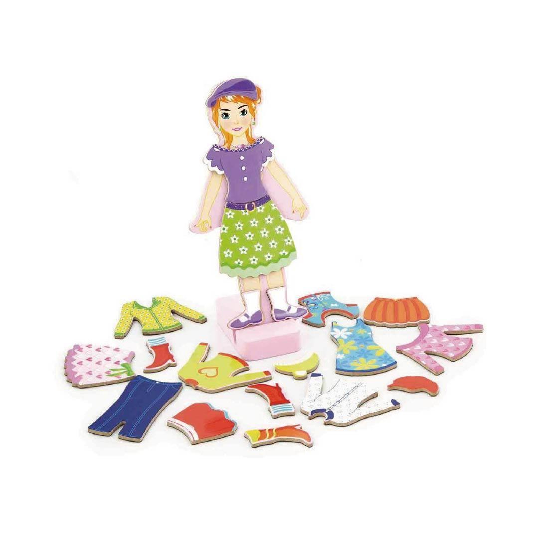Образователни играчки-Облечи момичето-детски играчки- Bellamie