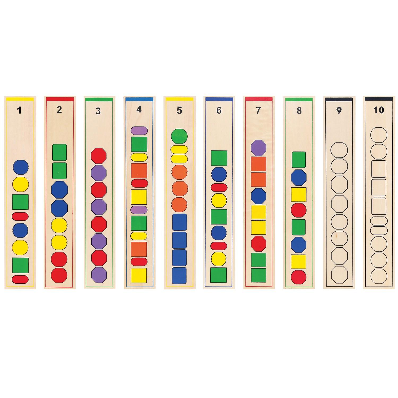 Образователна игра за нанизване на форми -дървени образователни играчки от Viga toys(1)-bellamiestore