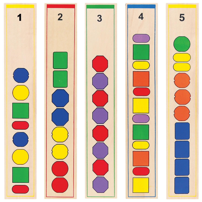 Образователна игра за нанизване на форми -дървени образователни играчки от Viga toys(2)-bellamiestore