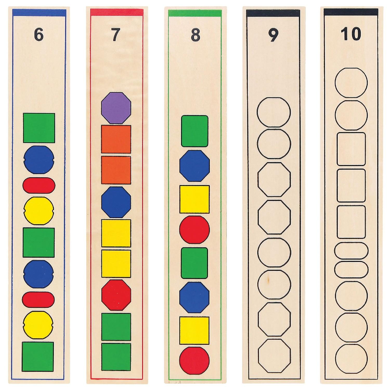 Образователна игра за нанизване на форми -дървени образователни играчки от Viga toys(3)-bellamiestore