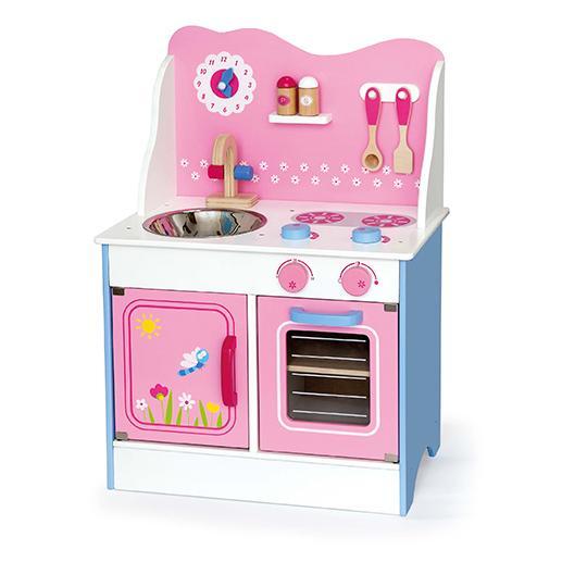 Приказна детска дървена кухня- дървена играчка-bellamie