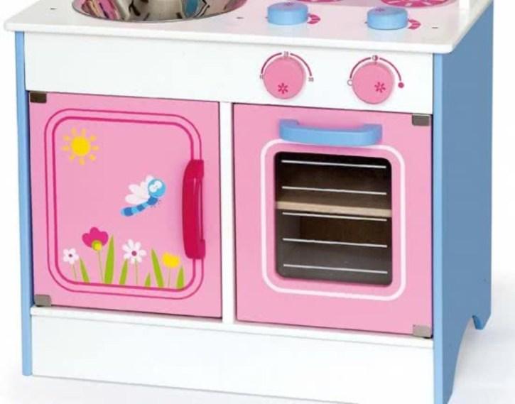 Приказна детска дървена кухня- дървена играчка(2)-bellamie