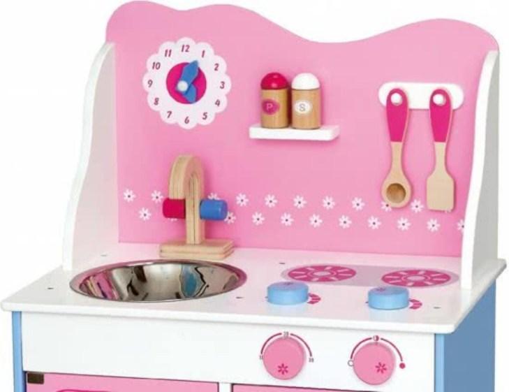 Приказна детска дървена кухня- дървена играчка(1)-bellamie