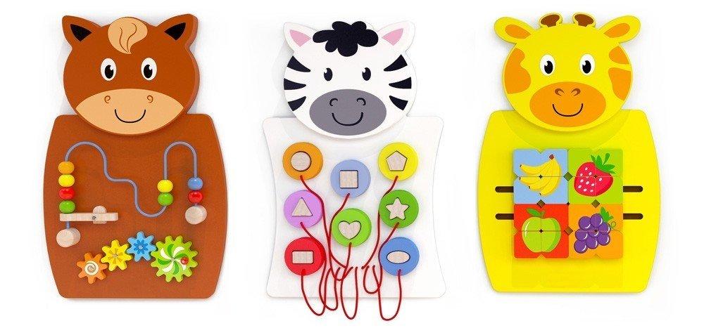 """Стенна детска играчка за стена- пъзел """"Зебра"""""""