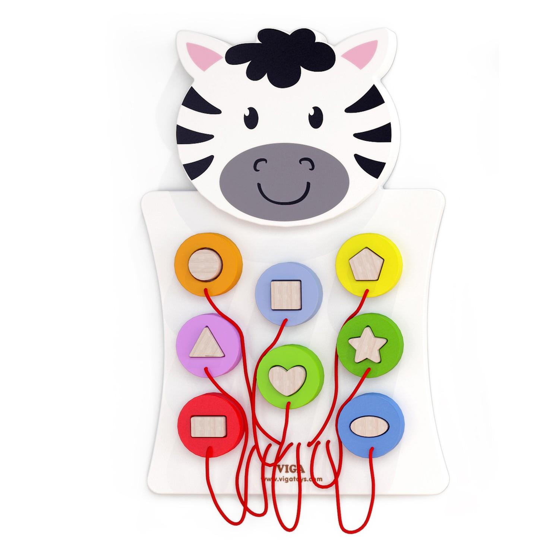 """Стенна детска играчка за стена- пъзел """"Зебра"""" -Bellamie"""