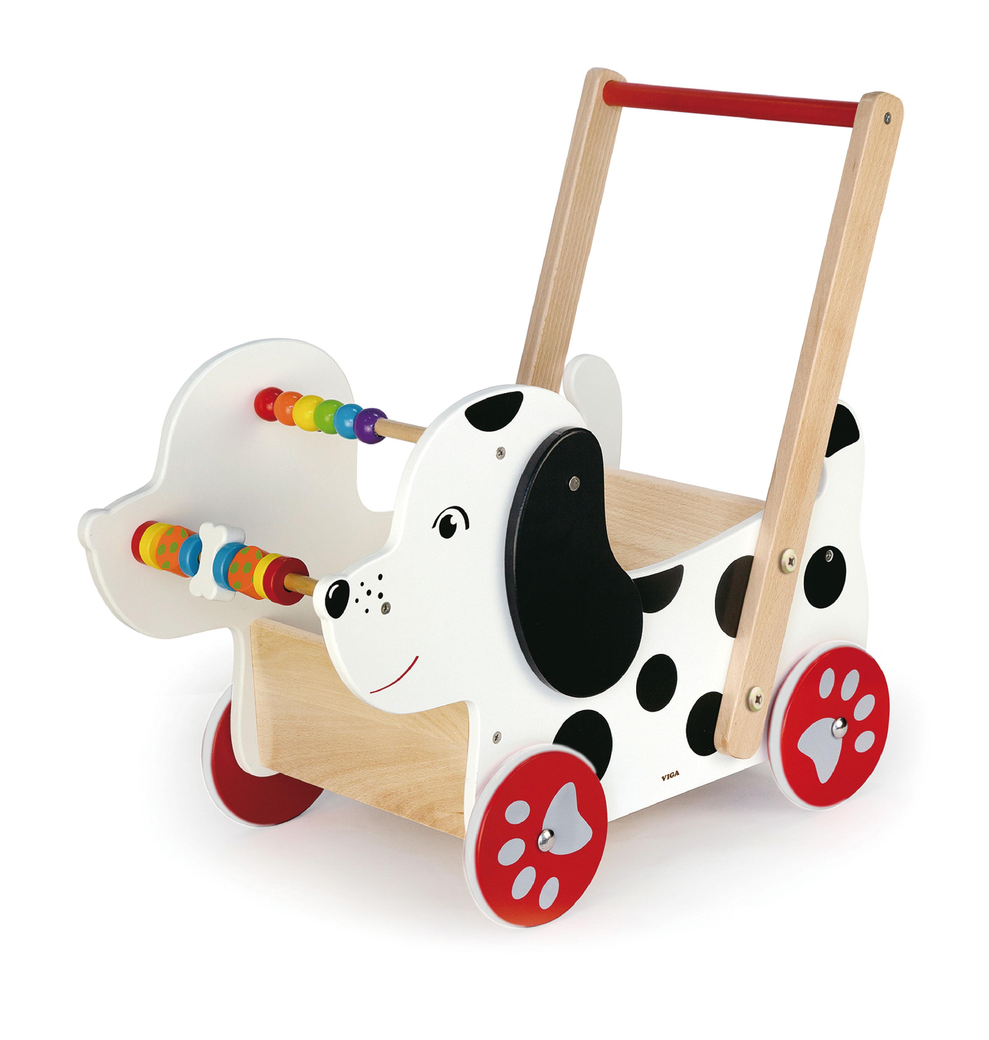 Дървена детска проходилка - Кученце от Viga-дървена играчка-bellamie