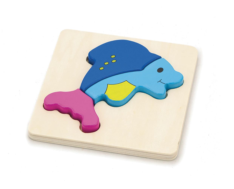 Детски дървен пъзел Делфин-Viga toys-Bellamie