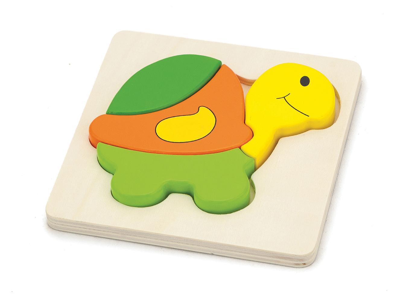 Детски дървен пъзел Костенурка-Viga toys-Bellamie
