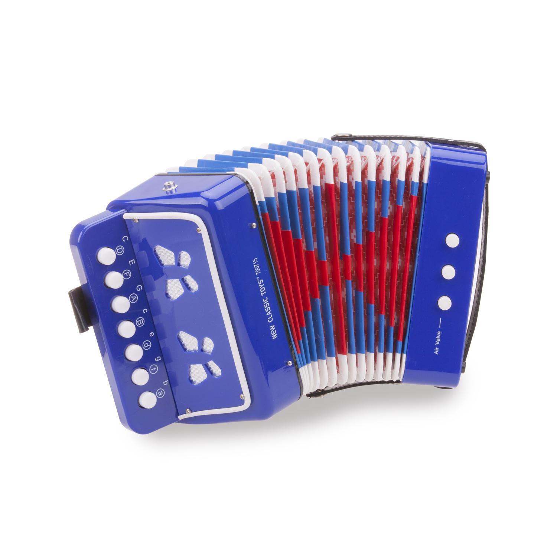 Детски музикални инструменти -син акордеон от New classic toys-bellamiestore