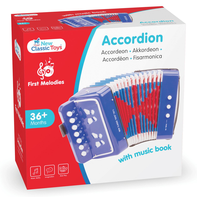 Детски музикални инструменти -син акордеон от New classic toys(1)-bellamiestore