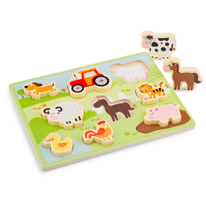 детски пъзел Живота в Фермата от New classic toys- дървени играчки(1)-bellamie