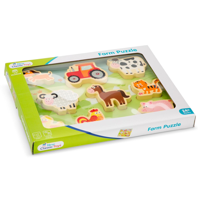 детски пъзел Живота в Фермата от New classic toys- дървени играчки(2)-bellamie
