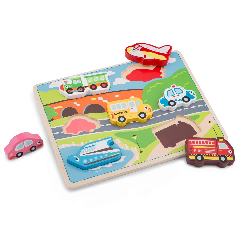 детски пъзел света на транспорта от New classic toys- дървени играчки-bellamie