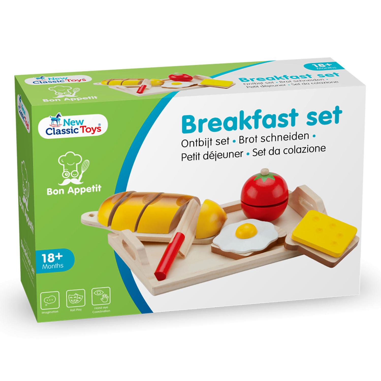 """Детска дървена кухня и аксесоари -Комплект за рязане """"Закуска"""" с табла(4)-bellamie"""